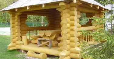 Беседка из деревянного бруса