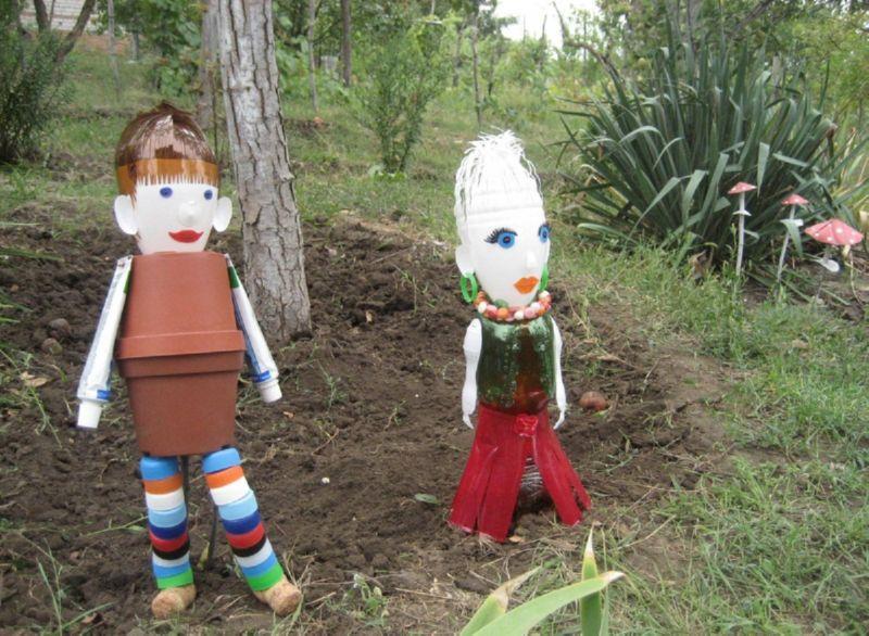 Забавные скульптуры для сада порадуют взрослых и детей