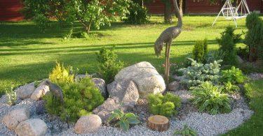 В ладшафтном дизайне большую роль играют камни