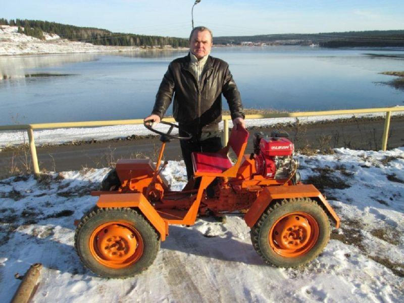 Мини-трактор, сделанный своими руками