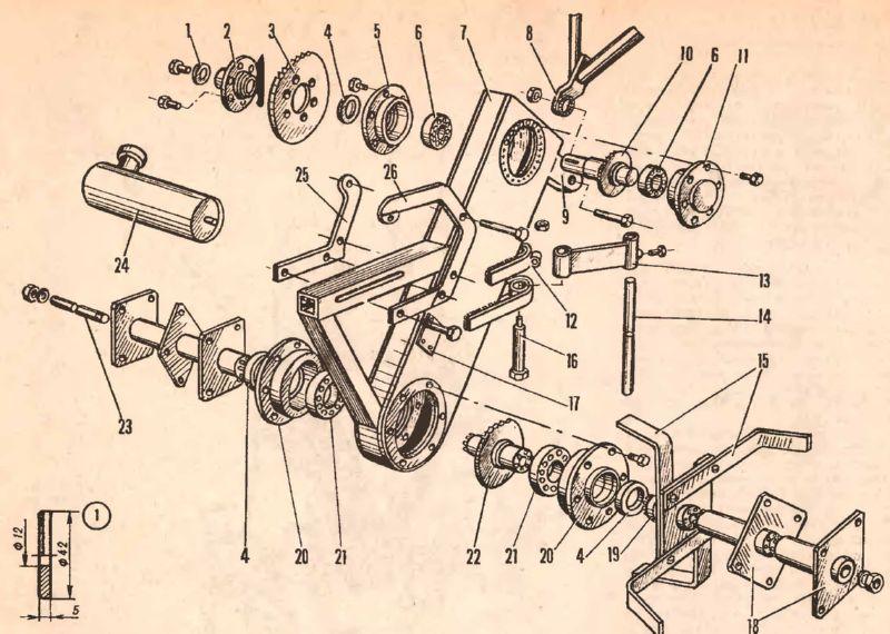 Схема культиватора для создания своими руками