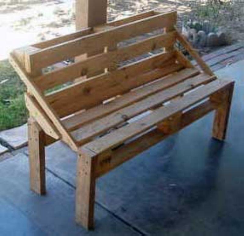 Вот такую скамейку мы будем делать