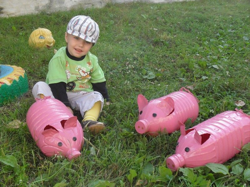 Клумба в форме свиньи