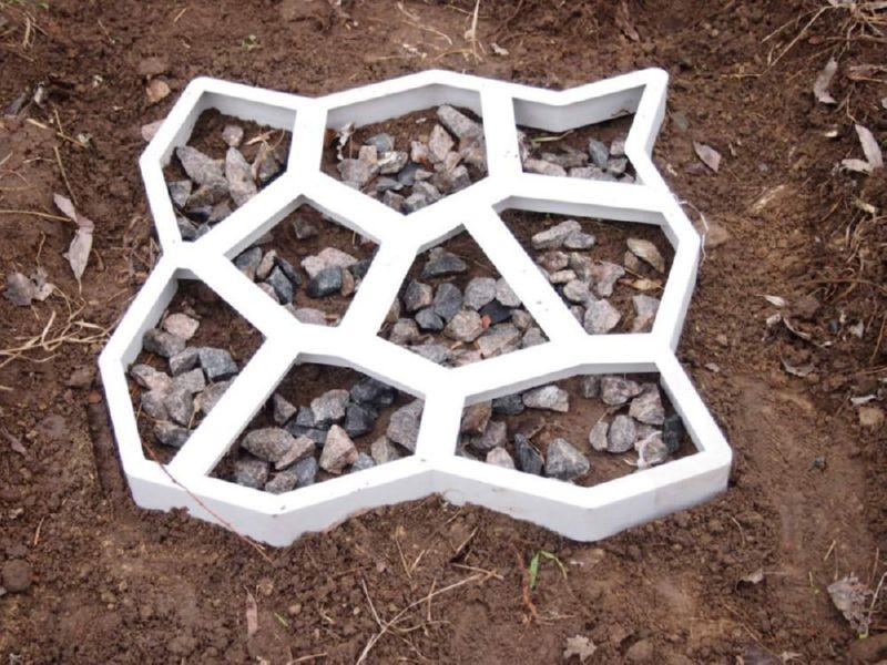 Форма из пластика для тротуарной плитки
