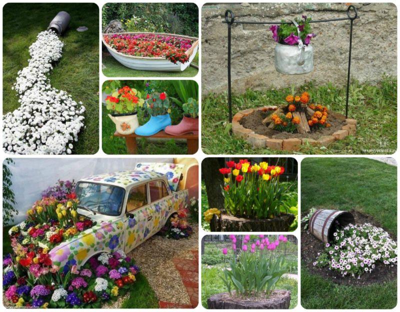 Из подручных материалов украсить огород своими руками фото 602