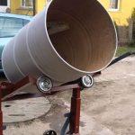Готовая бетономешалка из бочки