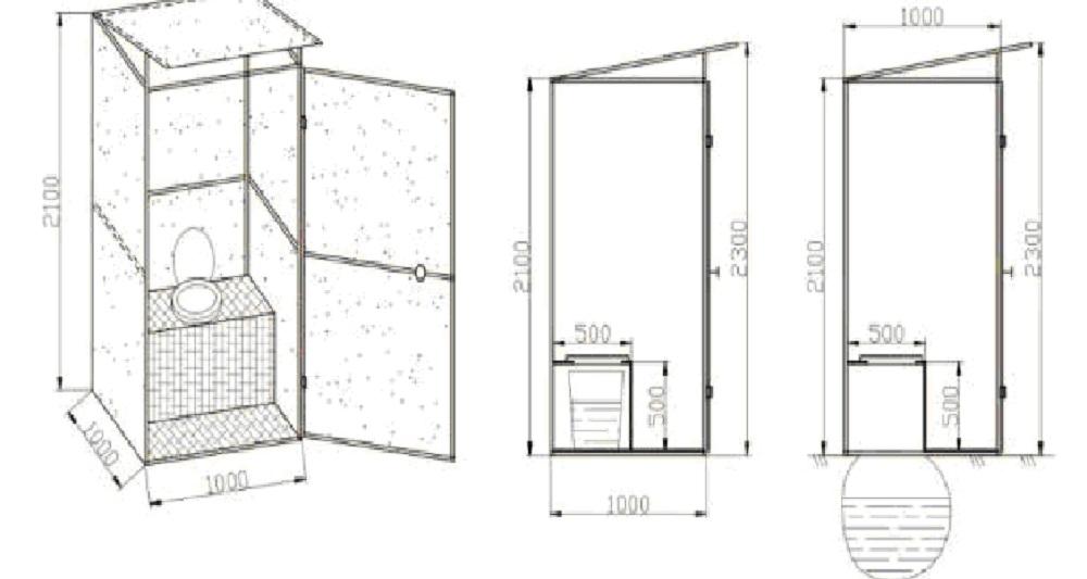 Как построить туалет на даче своими руками фото чертежи 60