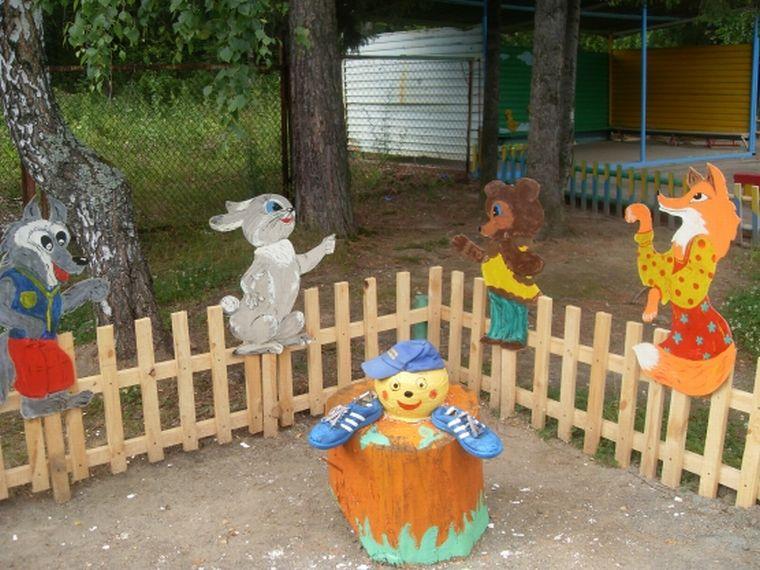 Поделка на участок детского сада из дерева 249