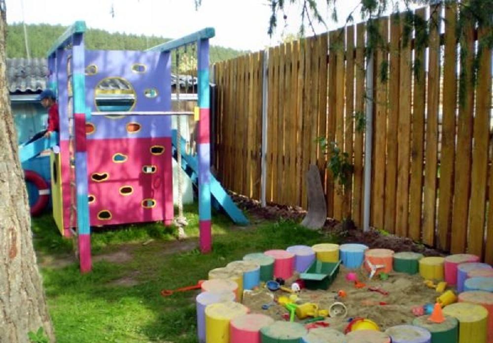 Детская площадка своими руками фото и идеи