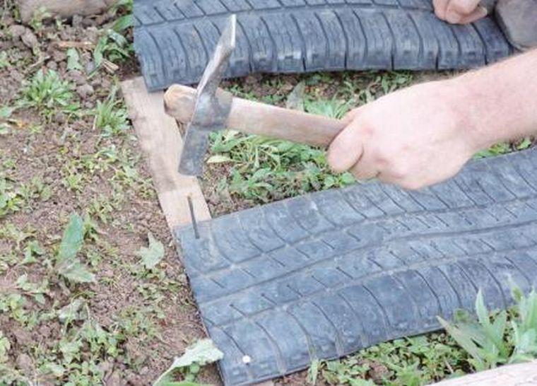 Крепеж кусков шины