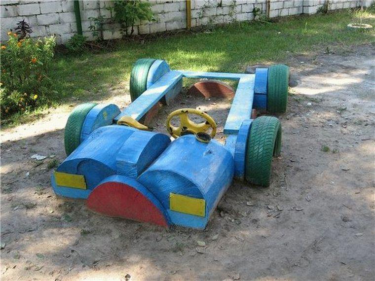 Песочница-автомобиль