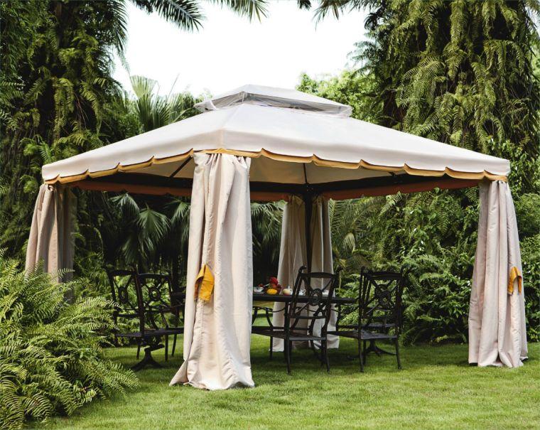 Готовый шатер с покрытой крышей