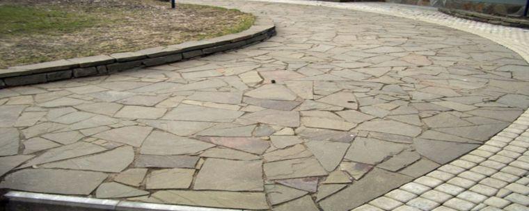 Дорожка на бетонной основе
