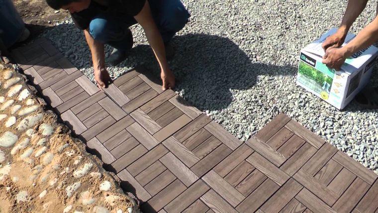 Пластиковая плитка и покрытие для дорожек на даче: цена и установка