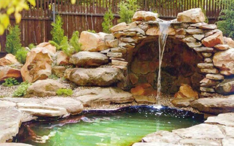 Садовые фонтаны и водопады своими руками 55