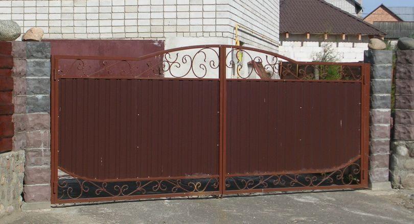 Ворота из профиля