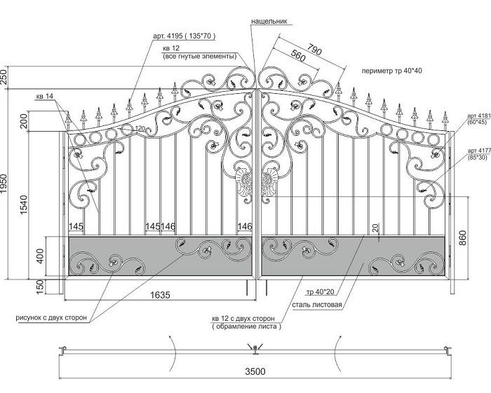 Изготовление кованых ворот самостоятельно
