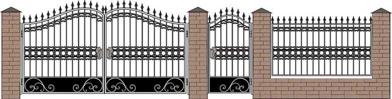 Ворота кованые, эскиз