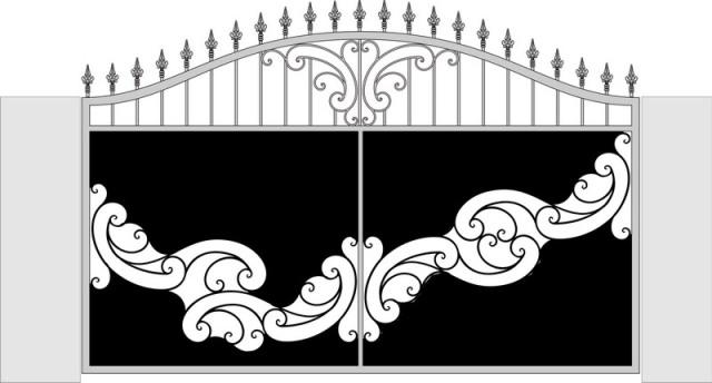 Кованые ворота, эскиз
