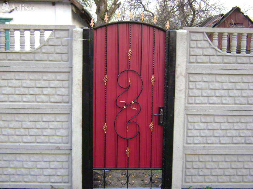 Ворота из профнастила своими руками фото 186