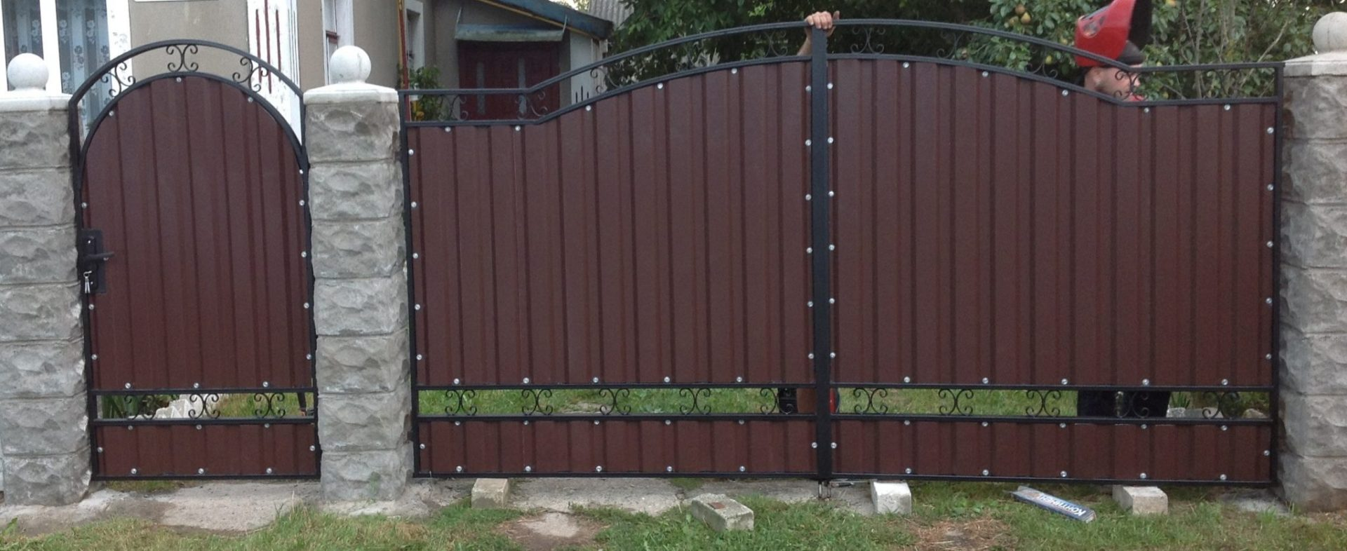 Ворота из металлопрофиля тюмень купить балку для откатных ворот в краснодаре