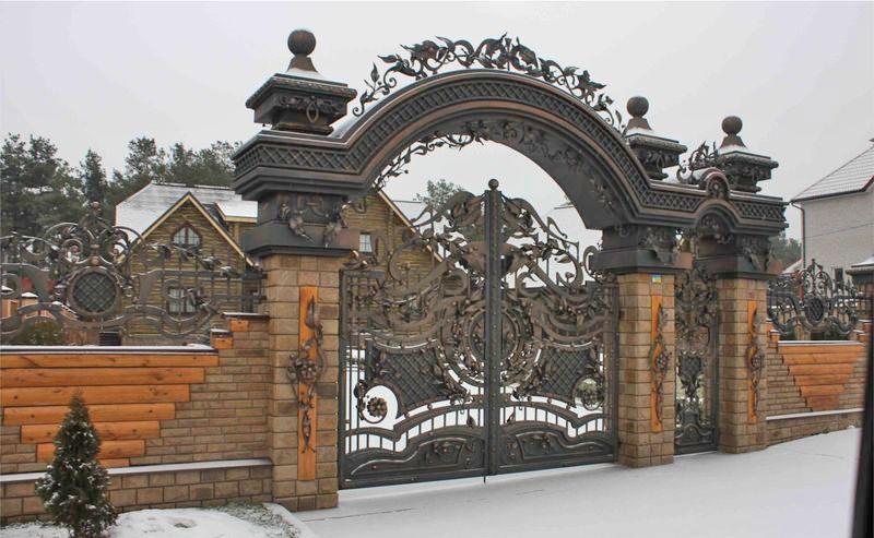 Лучшие кованые ворота