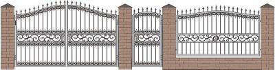 Кованые ворота, эскизы