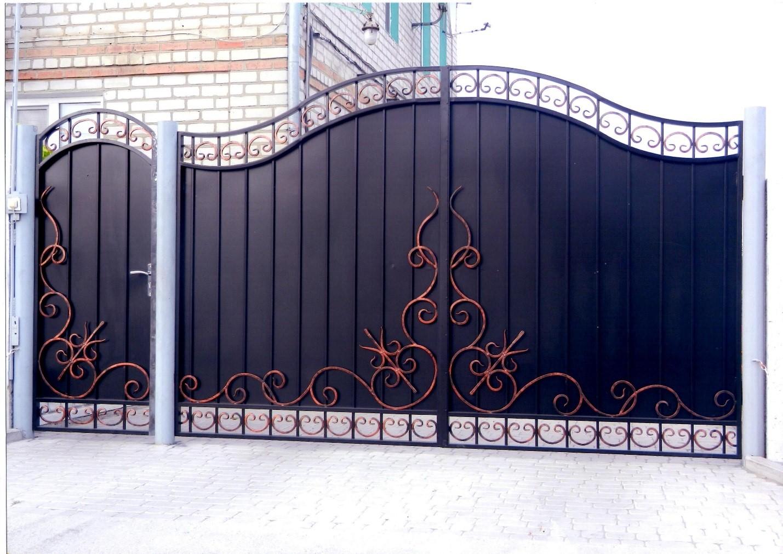 Кованые ворота своими руками фото 464
