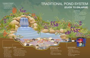 Схема оформления пруда