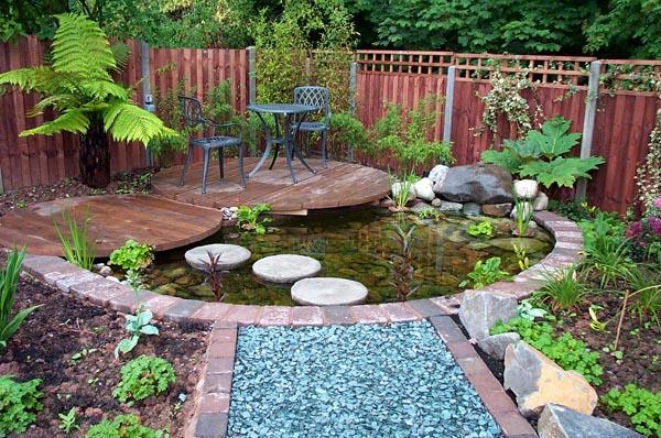 Как оформить водоем и зону отдыха