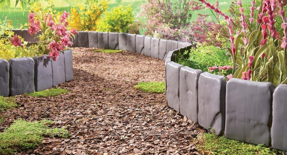 Садовые ограждения для клумб и грядок своими руками фото 95