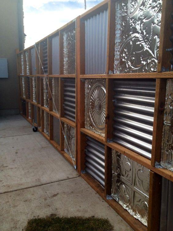 Оригинальный металлический забор
