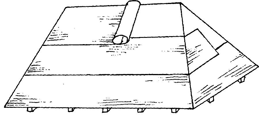 Расчет вальмовой кровли четырехскатной крыши с чертежом