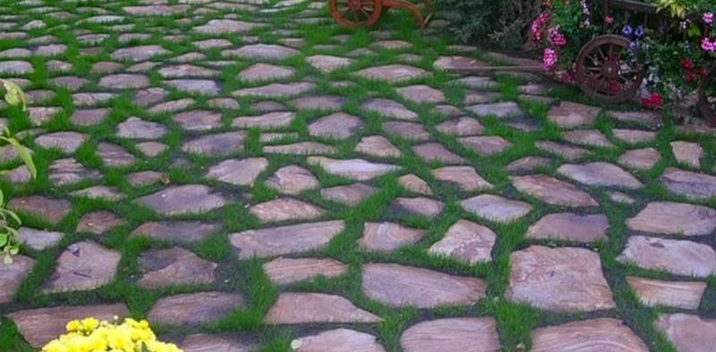 Как сделать дорожки из природного камня своими руками 93