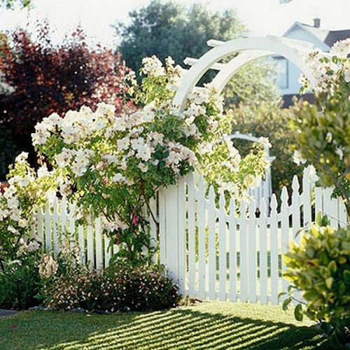 Забор с красивой калиткой