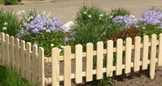 Деревянные заборчики для палисадников