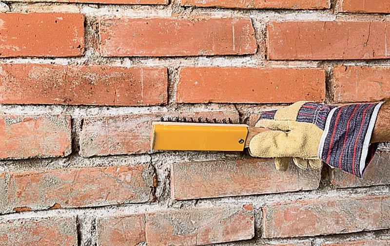 Инструмент для расшивки швов кирпичной кладки