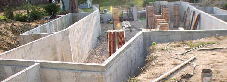 Монолитный цоколь из бетона