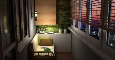 Дизайн балкона - место для отдыха