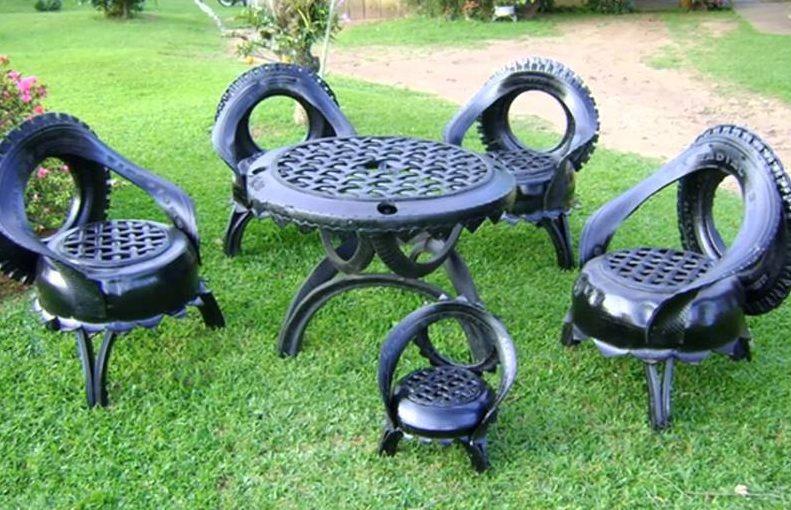 Садовая мебель из колес