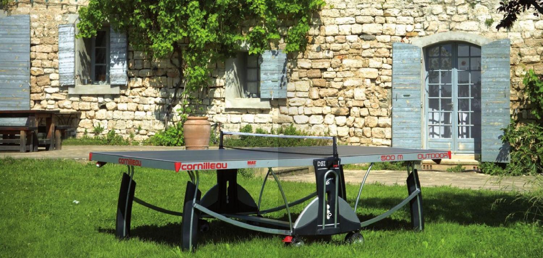 Настольный теннис в саду