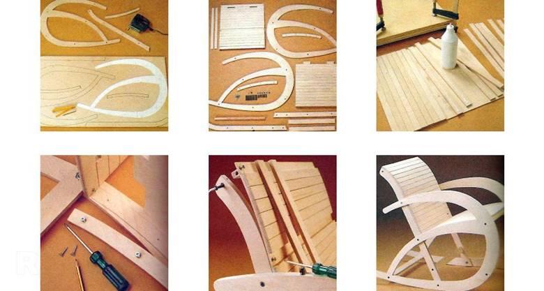 Создание кресла из фанеры