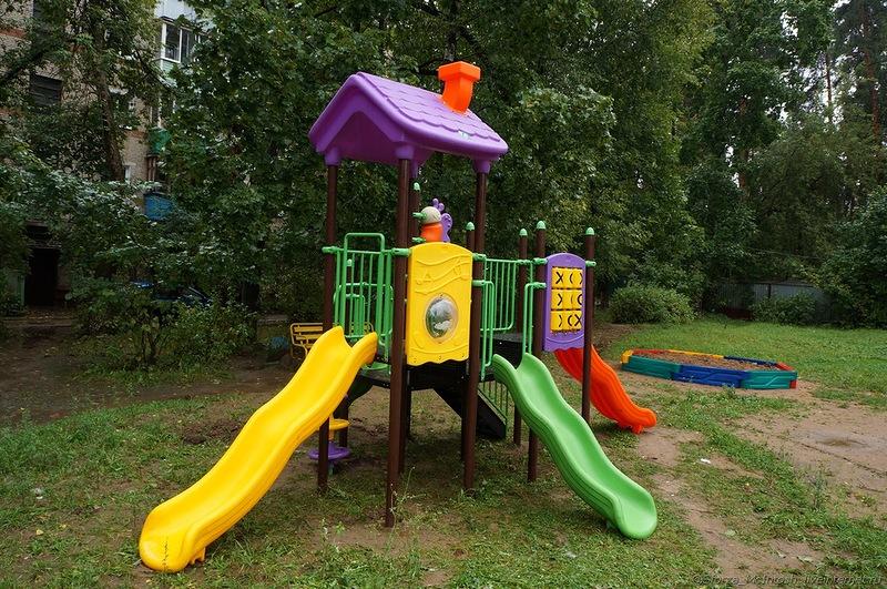 Сочетание цветов для детской площадки