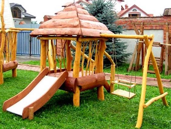 Создание детской площадки на даче своими руками