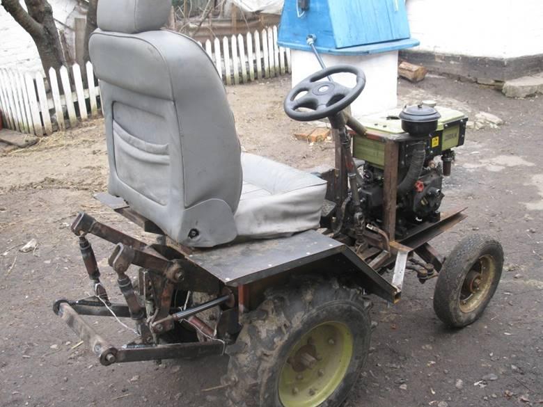 Руль и сиденье для трактора