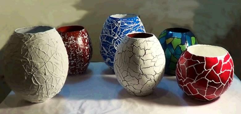Напольная ваза из папье-маше