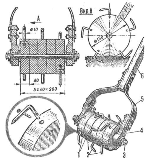 Зубчатый культиватор - чертежи