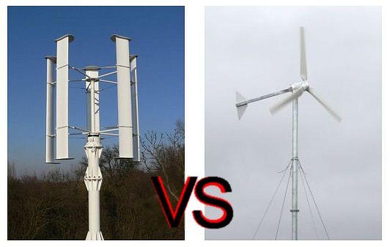 горизонтальный и вертикальный ветряки