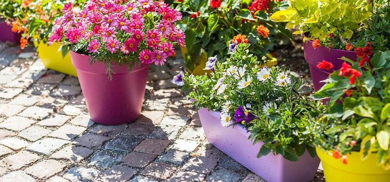 уличные вазоны для цветов