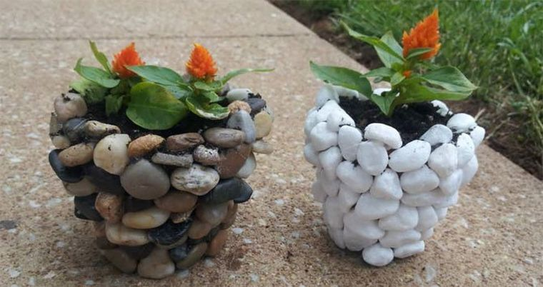вазоны из камней